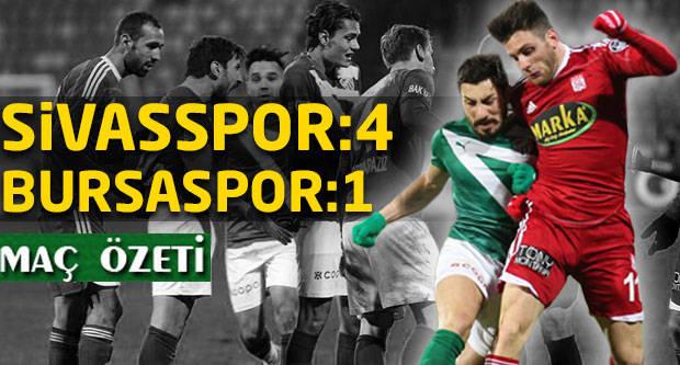 Medicana Sivasspor:4 Bursaspor:1