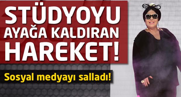 Nur Yerlitaş podyuma çıktı stüdyoyu salladı!