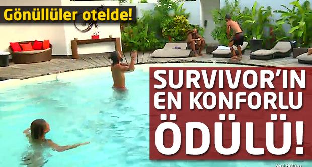 Survivor'un en konforlu ödülü! Gönüllüler otelde...