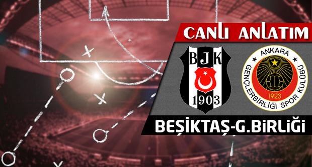 Beşiktaş-Gençlerbirliği (CANLI ANLATIM)
